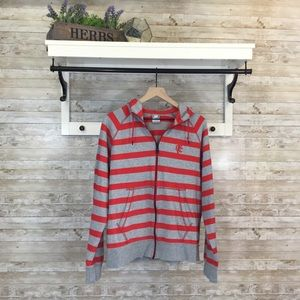 Nike striped zip hoodie